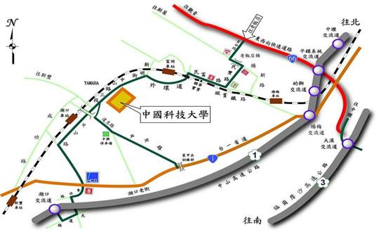 中國科技大學 新竹校區 交通地圖