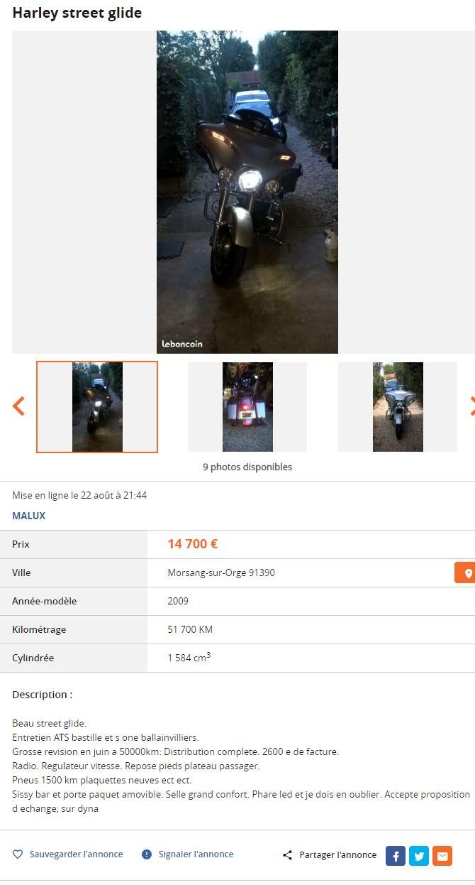 Vous en pensez quoi Street Glide avant achat 2184769068