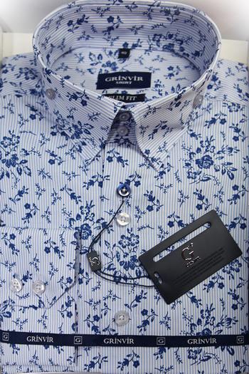 мужская рубашка Гринвир с принтом