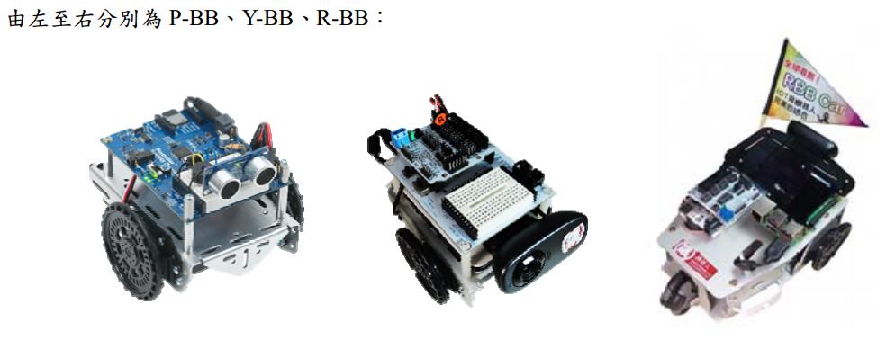 由左至右分別為 P-BB、Y-BB、R-BB: