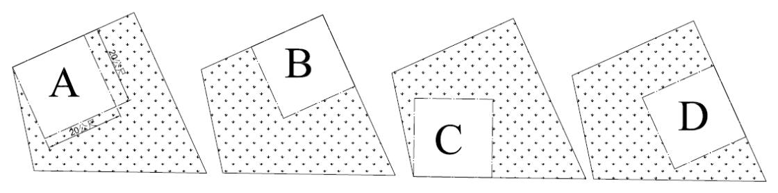 圖3 基地選項( 20mX20m)