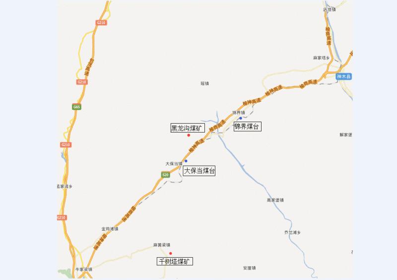 兩礦三站的位置圖