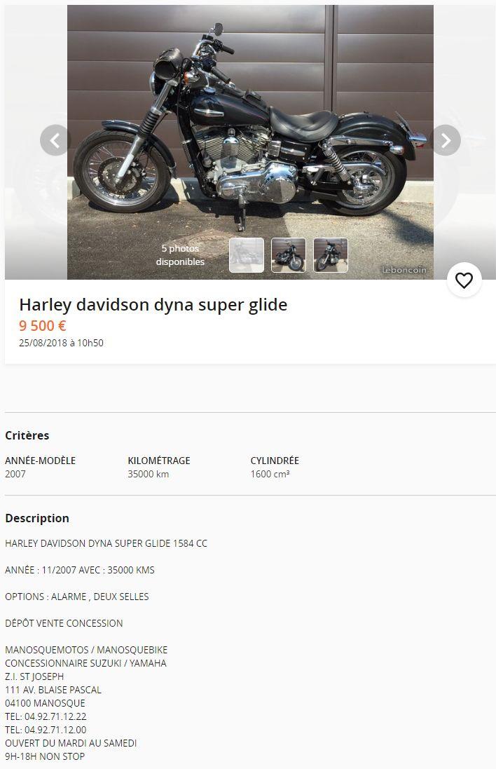 vente de ma superglide custom(VENDUE) 8165711797