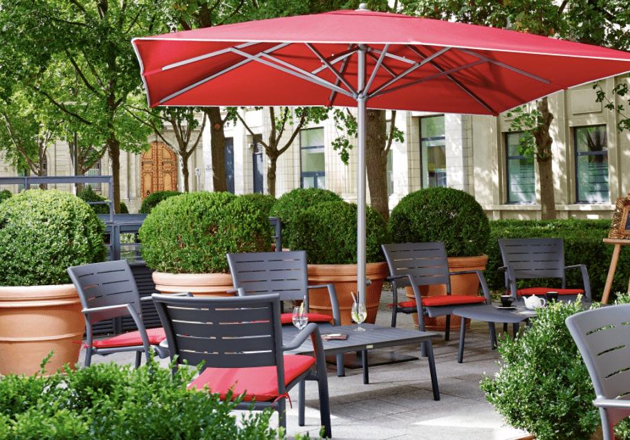 Beer patio umbrella in Canada