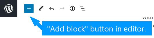 Add block button in editor