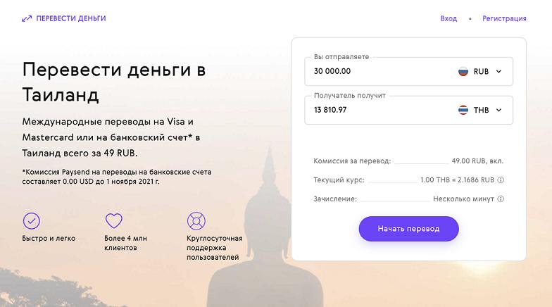 Paysend – онлайн-сервис международных денежных переводов