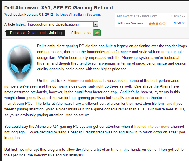 ... AlienWare X51, SSF PC Gaming Refined +Benchmarks - GameSpot.com