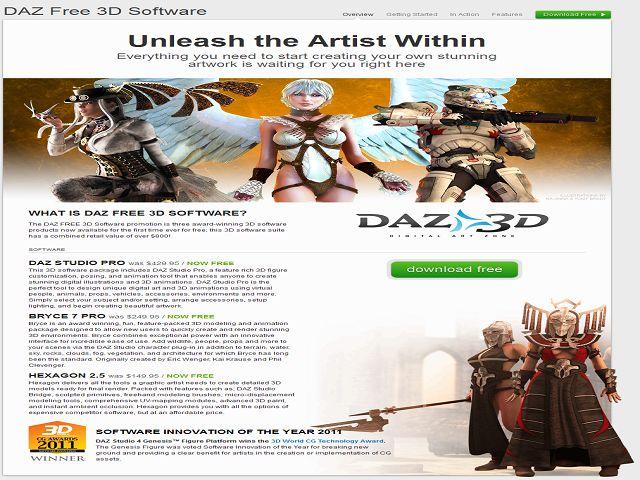 Programas da DAZ 3D agora free 6291452348