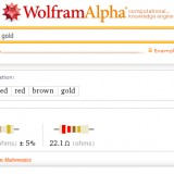 wolfram alpha usefull for electronics too