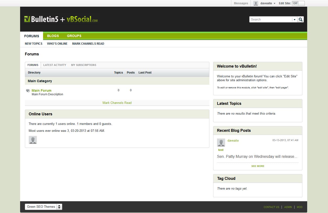 ������ vBSocial.com Green SEO Theme Lite (vBulletin 5 Theme)