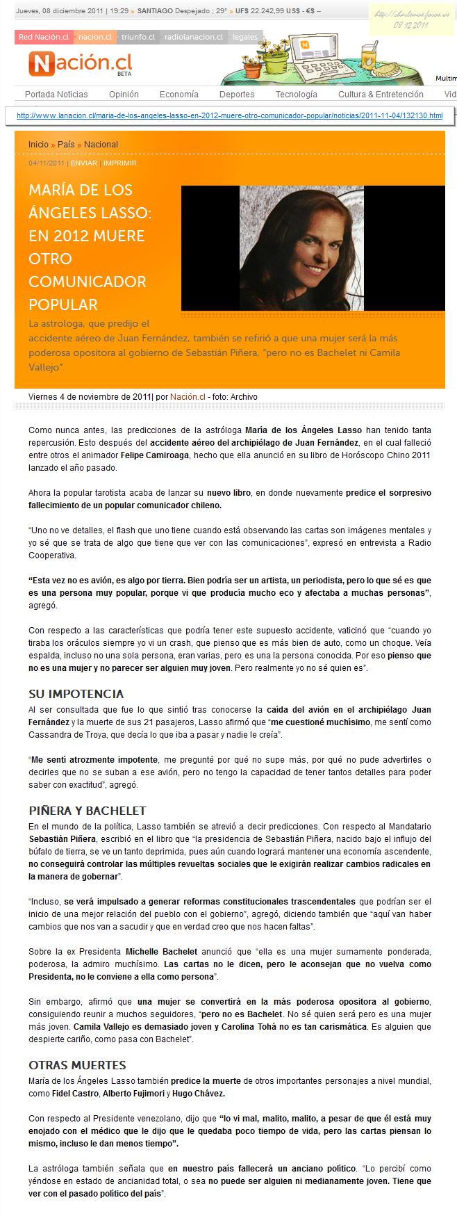 VIDENTES ACERTADOS, SUS PREDICCIONES PARA EL 2012 3140857382