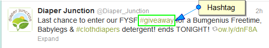 Screenshot of twitter hashtag
