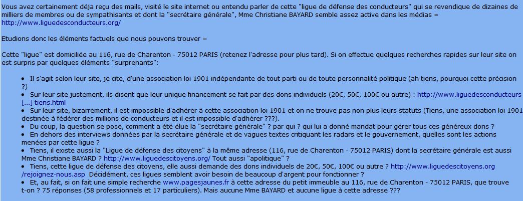 La Ligue de défense des conducteurs BAYARD Christiane - Page 2 3933049635