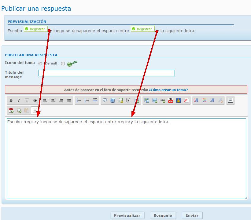 (907) Se desconfigura el mensaje al previsualizarlo o al editarlo  6315184836