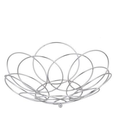 Marvel Stainless Steel Flower Shape Designer Fruit Basket