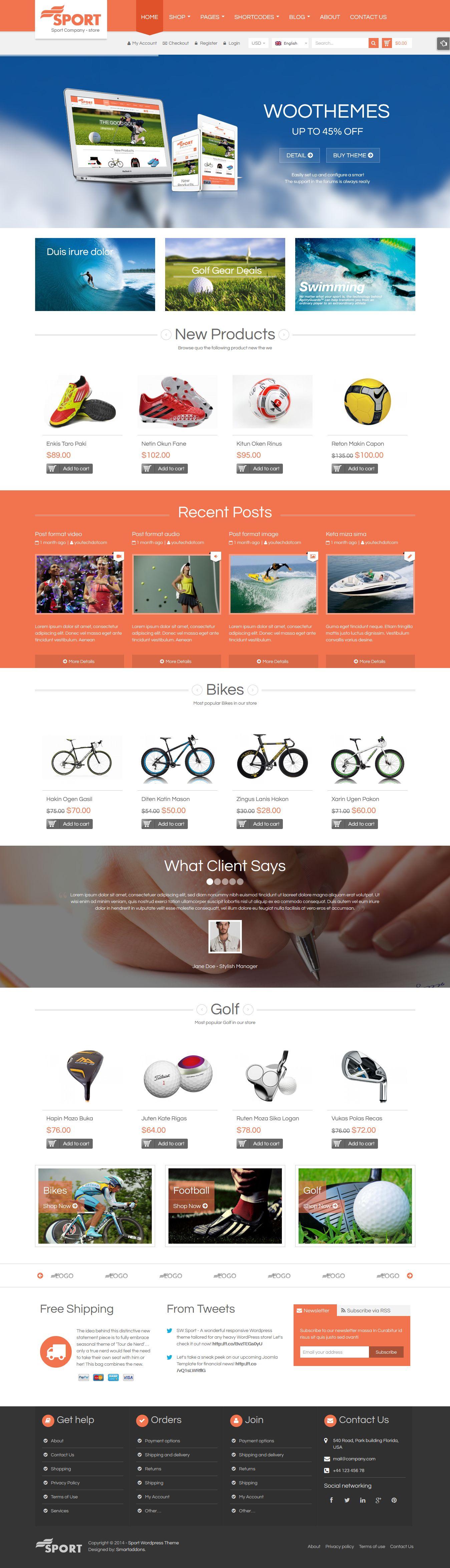 SW Sport – Responsive Sport WordPress Theme