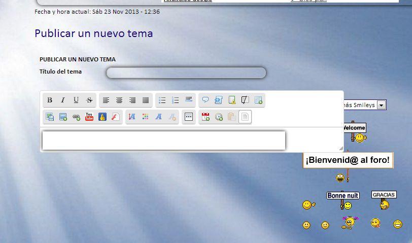 El área para escribir es más pequeña que la ventana del editor de texto, en los dos modos de edición. 2781942449