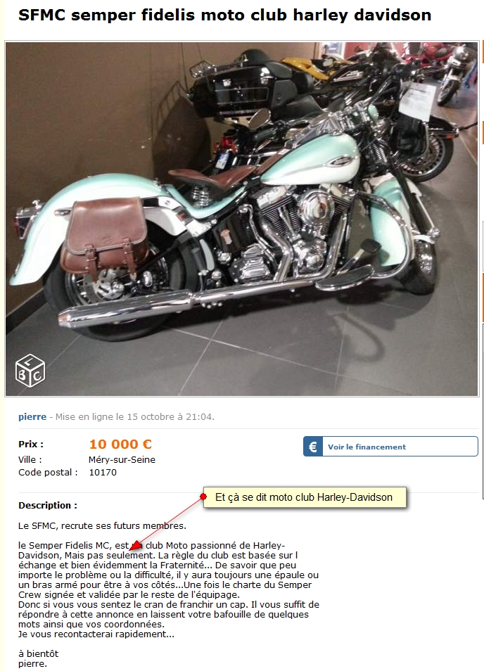 SFMC semper fidelis moto club harley davidson 2364683633