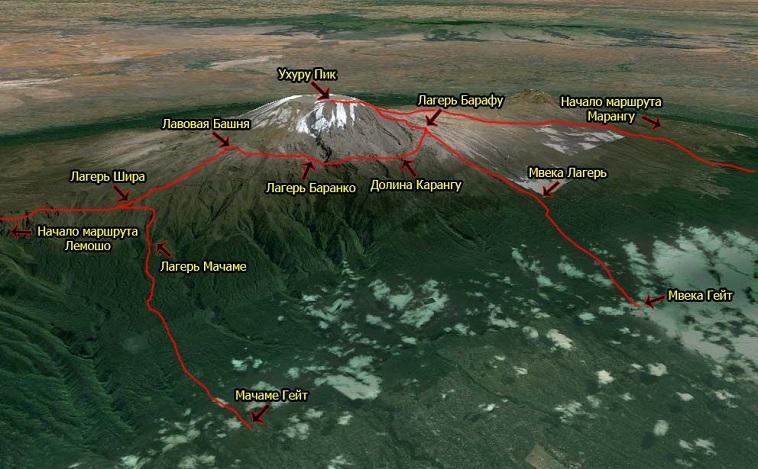 Откуда восходить на Килиманджаро