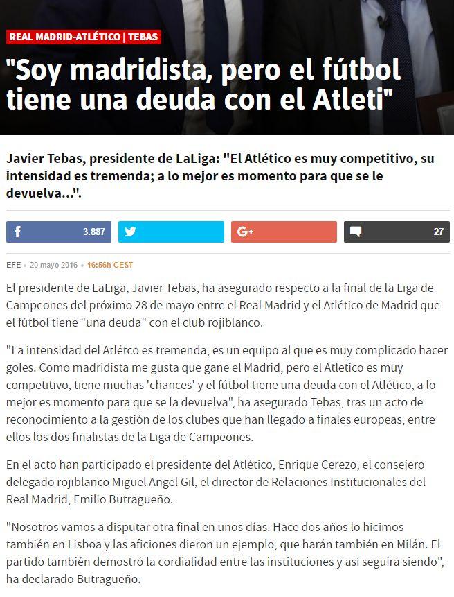 """Javier Tebas, vicepresidente de la LFP: """"Sabemos que en España se están amañando partidos - Página 3 1846099674"""