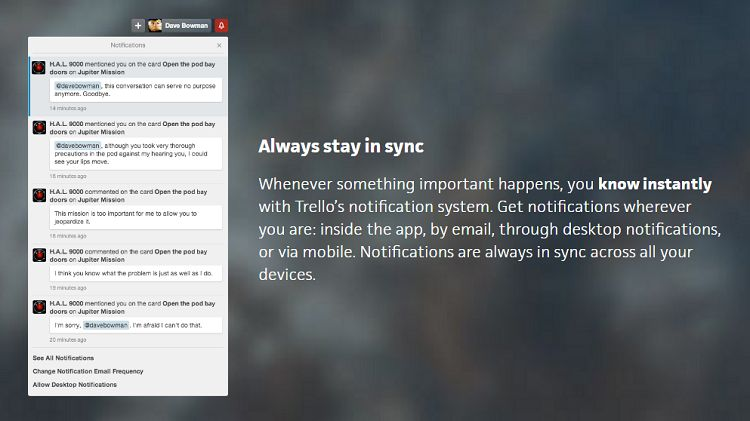 Trello - Notification System