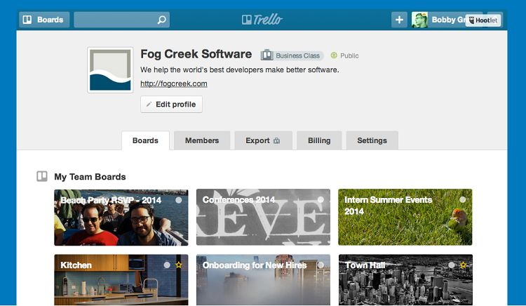 Trello - Boards Organization