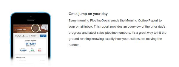 PipelineDeals - Morning Coffee Report