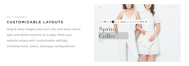 Squarespace - Customizable Layouts