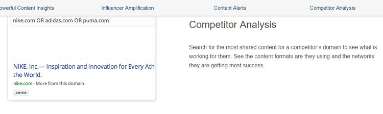 BuzzSumo - Competitor Analysis