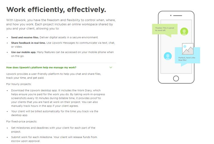 Upwork - Work Efficiently