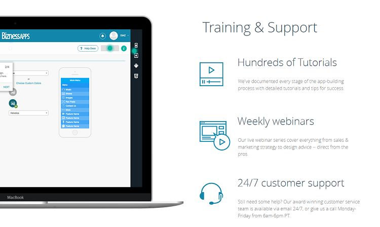 BiznessApps - Training and Support