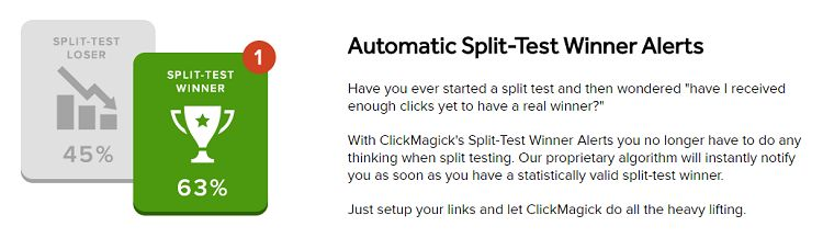 ClickMagick - Split Test Winner Alerts