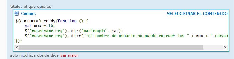 ¿Cuál de estos dos scripts es mejor para limitar el número de caracteres de los nicks de los usuarios al registrarse? 5961354823