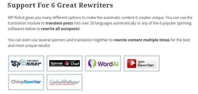 WP Robot 5 - Rewrite Content