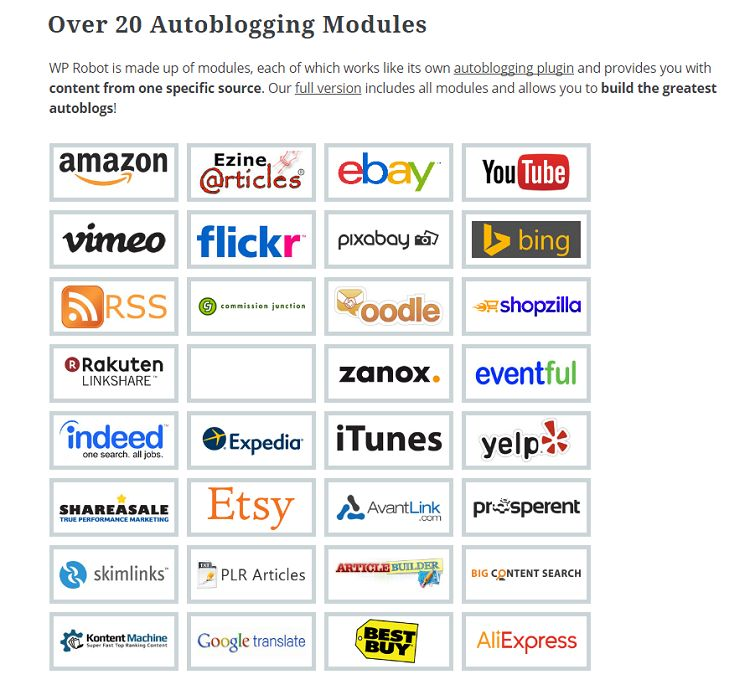 WP Robot 5 - Autoblogging