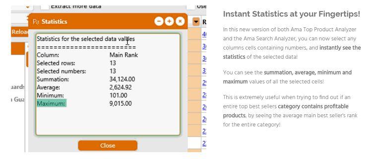 AmaSuite 5 - Instant Statistics